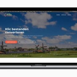 Bezoek de website van KlicConverter